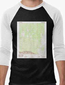USGS TOPO Map Arizona AZ One Toe Ridge 312704 1985 24000 Men's Baseball ¾ T-Shirt
