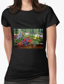Flower Display Womens Fitted T-Shirt