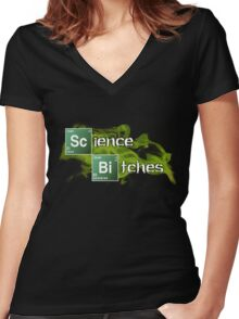 Science Bitches Women's Fitted V-Neck T-Shirt