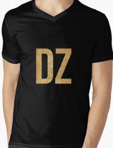 GOLD DZ Mens V-Neck T-Shirt