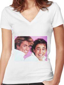 WHAM! Women's Fitted V-Neck T-Shirt