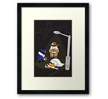 Homicide for Breakfast Framed Print