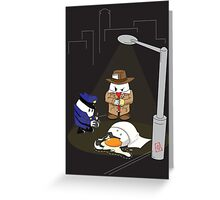 Homicide for Breakfast Greeting Card