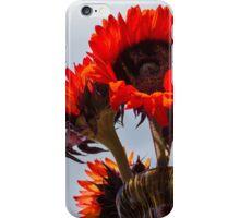 Orange sunflower iPhone Case/Skin