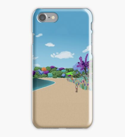 Cracked Island Beach iPhone Case/Skin