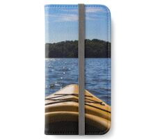 Landscape of a northern lake viewed from a kayak  iPhone Wallet/Case/Skin