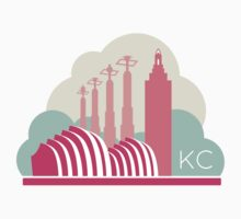 Kansas City in the Clouds - Pink One Piece - Short Sleeve