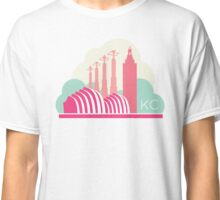 Kansas City in the Clouds - Pink Classic T-Shirt