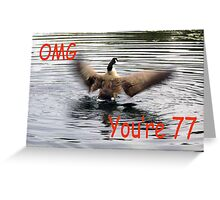 Happy 77th Birthday Goose flapping Greeting Card
