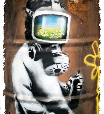 Banksy at HMV Sticker