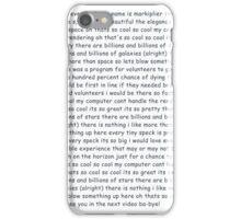 Markiplier 'Space Is Cool' lyrics iPhone Case/Skin