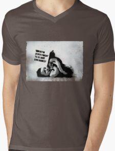 Banksy School Mens V-Neck T-Shirt