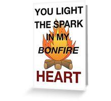 Bonfire Heart - James Blunt Greeting Card