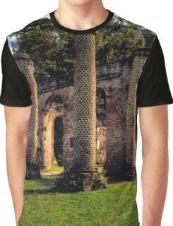 Old Sheldon Church Ruins - Analog HDR Graphic T-Shirt