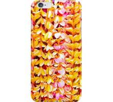 Plumeria Lei's in Yellow and Pink iPhone Case/Skin