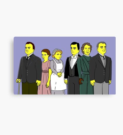 Downton Abbey - Downstairs Six Canvas Print