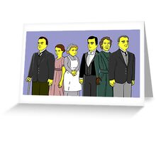 Downton Abbey - Downstairs Six Greeting Card