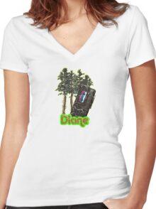 """Diane"" Women's Fitted V-Neck T-Shirt"