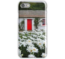 Irish Cottage With Daisies iPhone Case/Skin