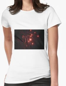 red smoke Womens Fitted T-Shirt