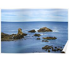 Idyllic view of a coast in Spain Poster