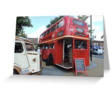 British Bar Bus Greeting Card