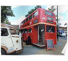 British Bar Bus Poster