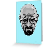 Walter White - Heisenberg - Breaking Bad- Black and White Greeting Card