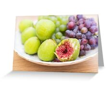 Fresh figs and grape Greeting Card