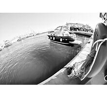marina&summer holidays (bw) Photographic Print