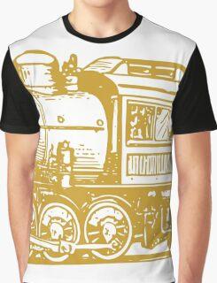 Vintage Steam Train Graphic T-Shirt