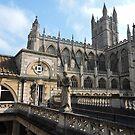 Roman Baths and Bath Abbey by CreativeEm