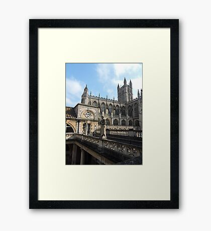 Roman Baths and Bath Abbey Framed Print