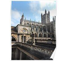 Roman Baths and Bath Abbey Poster