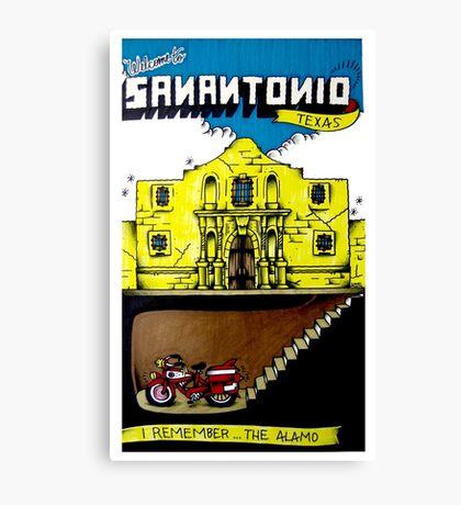 I Remember...The Alamo Canvas Print