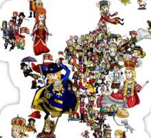 Renaissance Europe National Personification Map Sticker