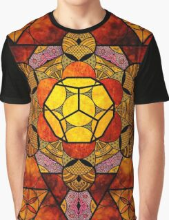 Sacred Geometry Mix- Platonic Solids Graphic T-Shirt