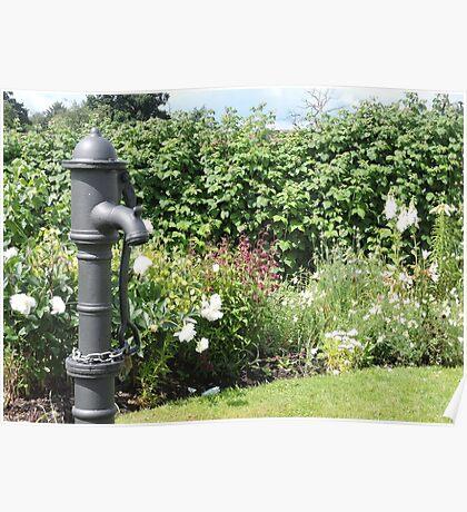 Water Pump & Well Garden Poster