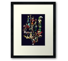 Renaissace Eastern Europe National Personifications Map Framed Print