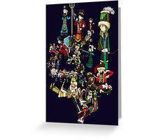 Renaissace Eastern Europe National Personifications Map Greeting Card