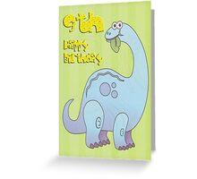 Happy Ninth Birthday Dinosaur  Greeting Card