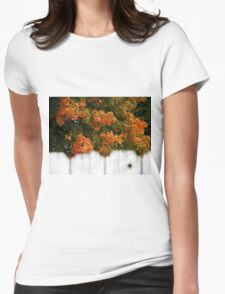 Colorful view over the fence Womens Fitted T-Shirt