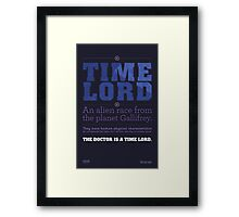 Doctor Who - Time Lord Infographic Framed Print