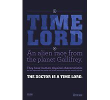 Doctor Who - Time Lord Infographic Photographic Print