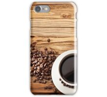 Morning Coffee on Wood iPhone Case/Skin