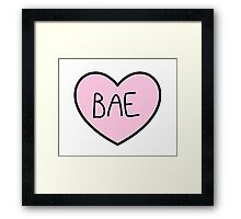 BAE HEART TUMBLR Framed Print