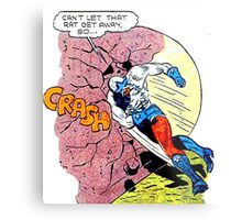 Comic Book Rock Crash! Metal Print