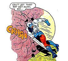 Comic Book Rock Crash! Photographic Print