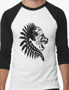 Spiked Lion Head Men's Baseball ¾ T-Shirt