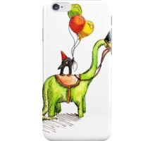Happy penguin on a dinosaur iPhone Case/Skin